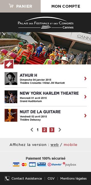 Billetterie Mobile du Palais des Festivals et des Congrès de Cannes