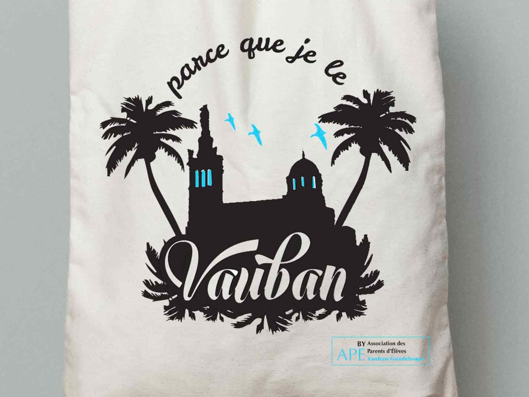 création visuel pour tote bag // Vauban (Marseille)