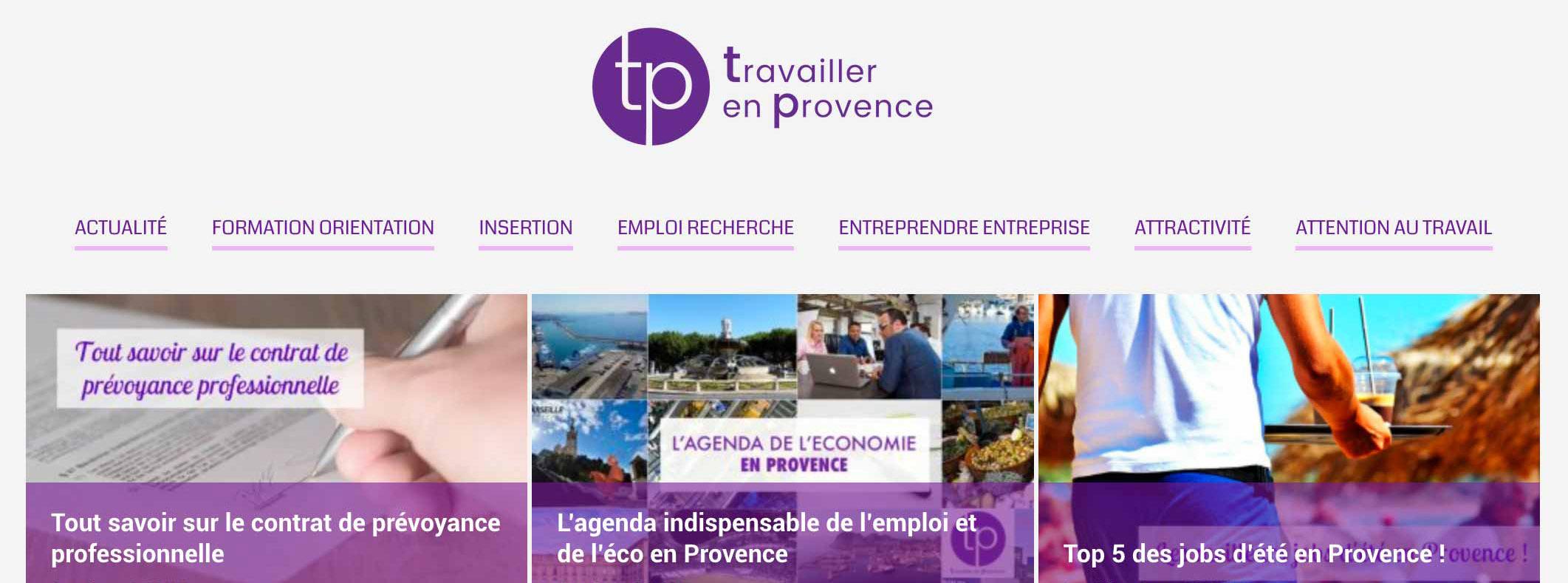 Création de logo, de maquette et intégration de l'encart TEP dans Made in Marseille