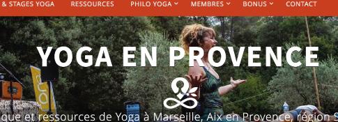 Logotype Yoga en Provence sur charte existante