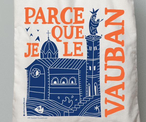 Illustration de Totebag pour le quartier Vauban